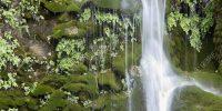 Waterfall of Batán de Bogarra, in the province of Albacete, Spain.